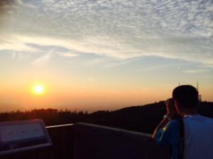 折爪からの夕日③